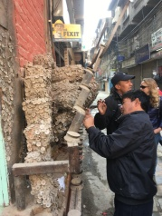 Locals hammer nails into this shrine to the pain gods. It is situated at the end of the street of dentists, and the hope is that an offering will take any pain away during a visit to the dentist!!