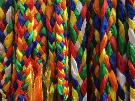 Bright colours are everywhere in Tibet. They symbolise the elements and white is for spirituality or welcome